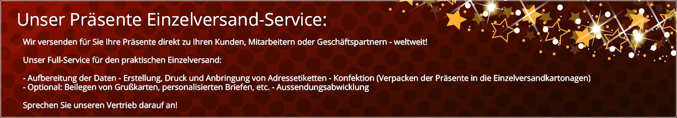 Pralinenpräsente Einzelversand-Service