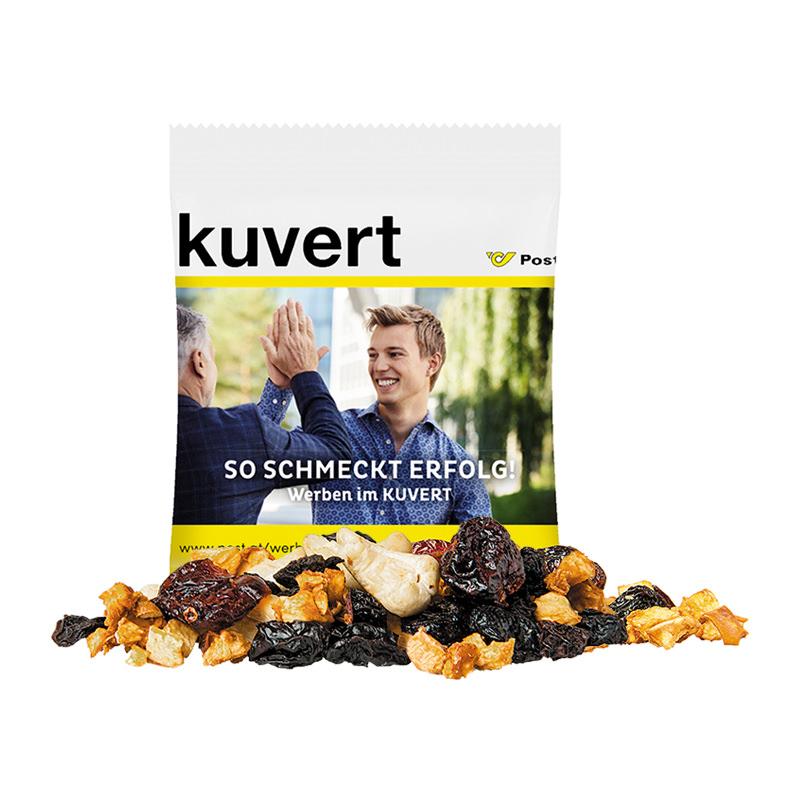 10 g Bio Fruchtmix im Werbetütchen mit Logodruck
