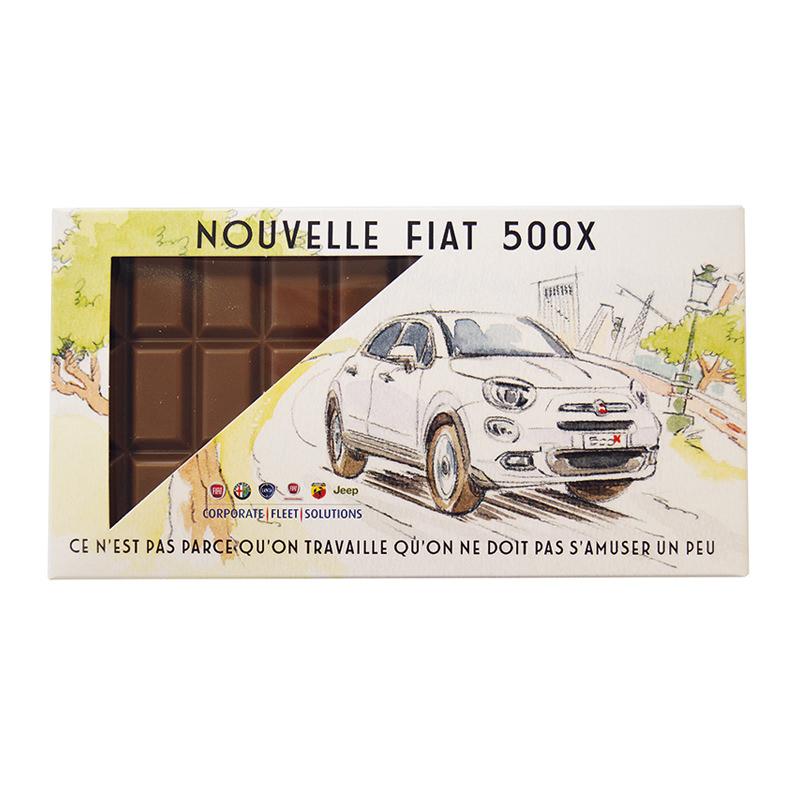 100 g Schokoladentafel in Werbe-Kartonage mit Werbedruck