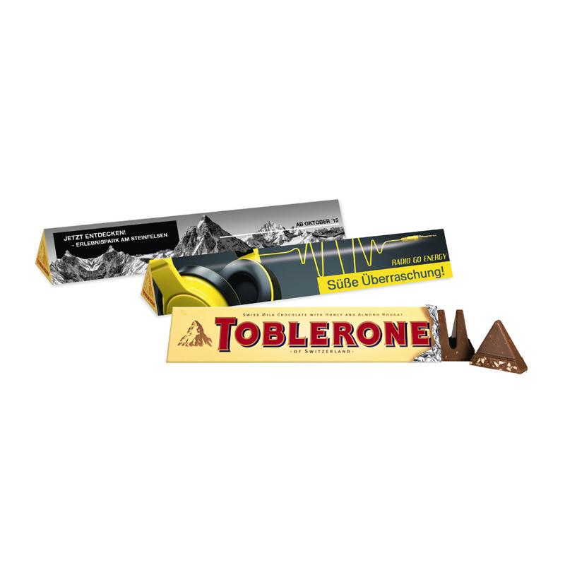 100 g Toblerone Riegel im Werbeschuber mit Logodruck
