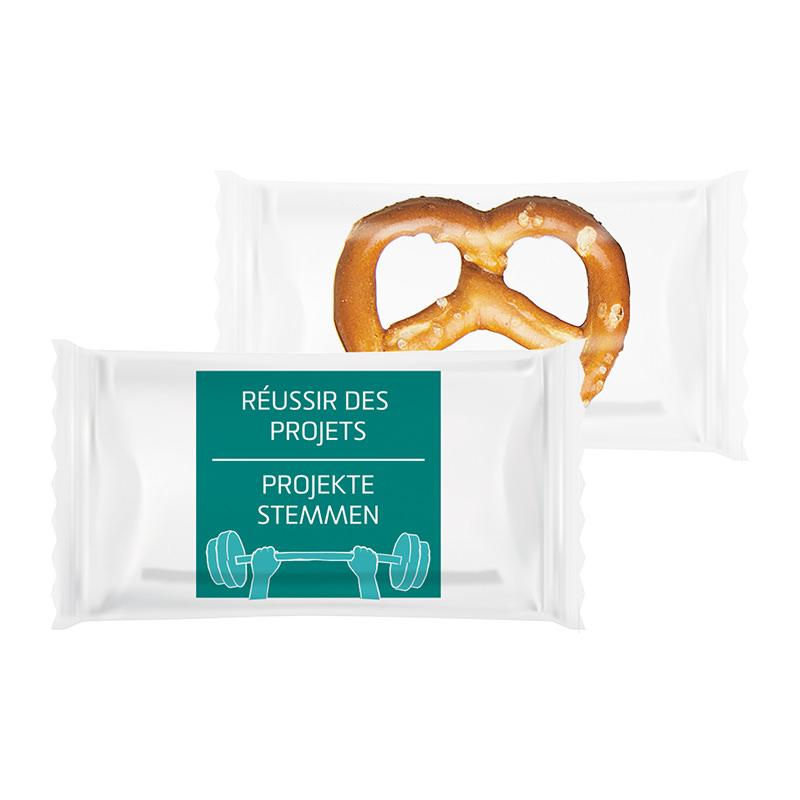 2 g Bio Brezel im Flowpack mit Logodruck