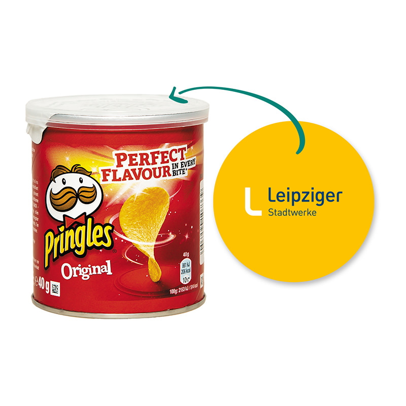 40 g Mini Pringles Original mit Werbeflyer und Logodruck