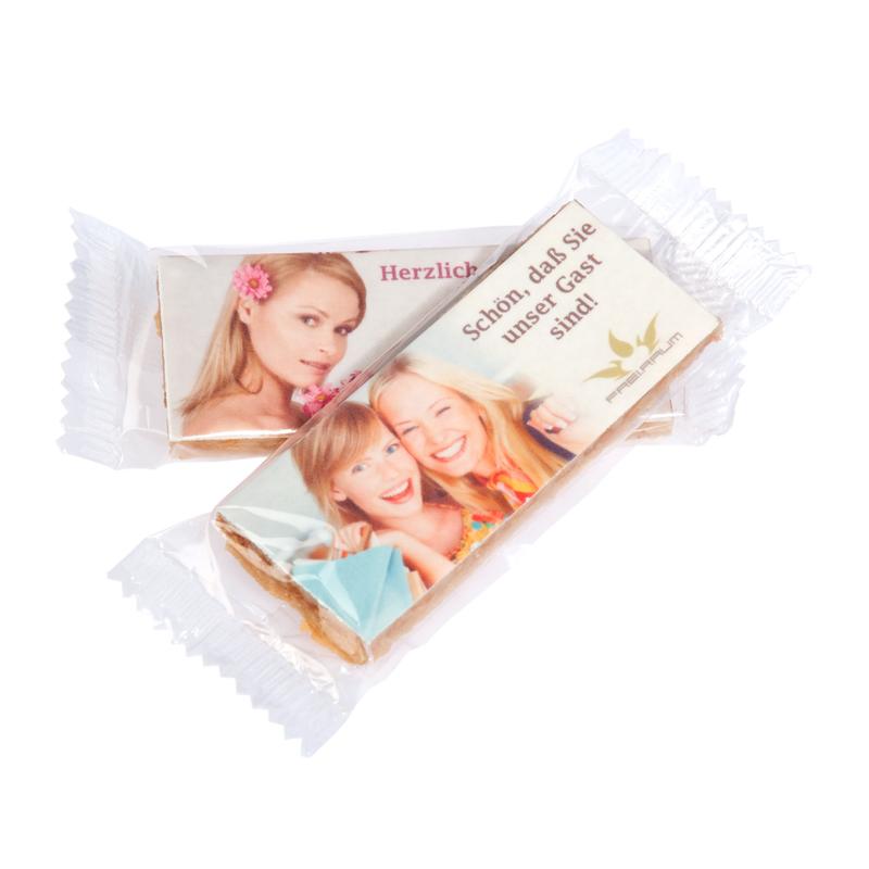 48 g Plätzchen-Riegel mit Lebensmittelfarben-Werbedruck