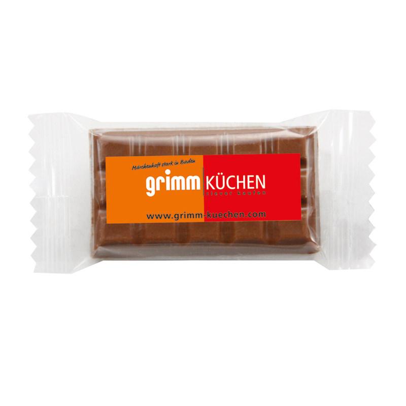 5 g Schokoladentäfelchen im Flowpack mit Werbedruck