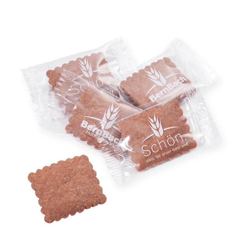 8 g Schoko-Butterkeks in bedruckter Klarsichtfolie