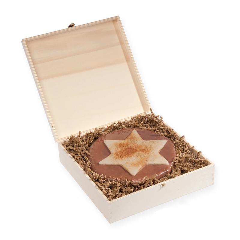 890 g Weihnachtstorte in edler bedruckbarer Holzbox
