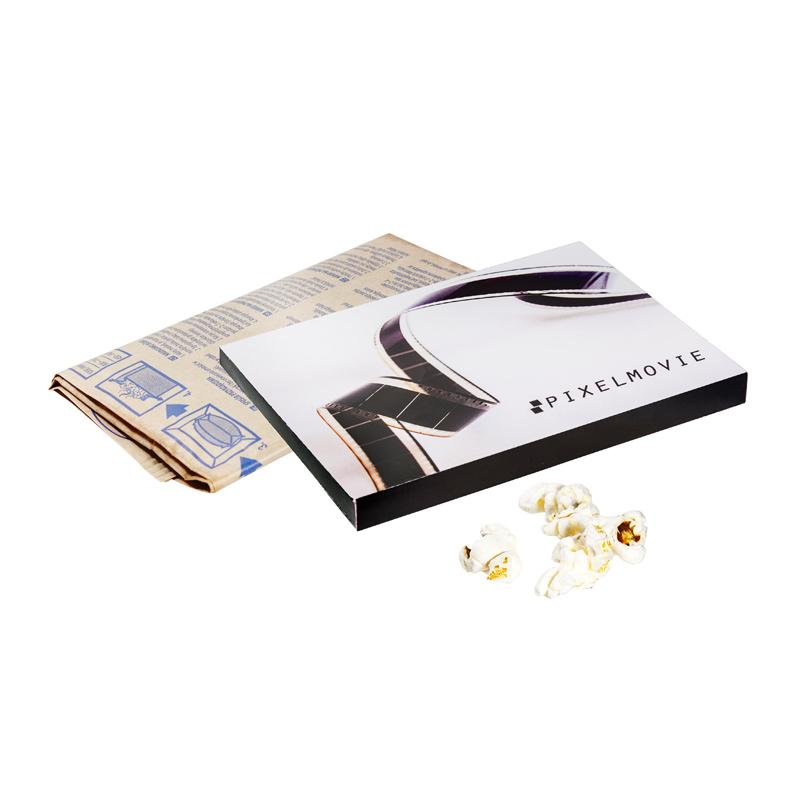 90 g Mikrowellen-Popcorn in Werbebox mit Werbedruck