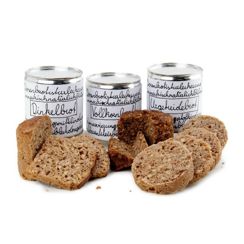 Bio-Brot in der Werbedose