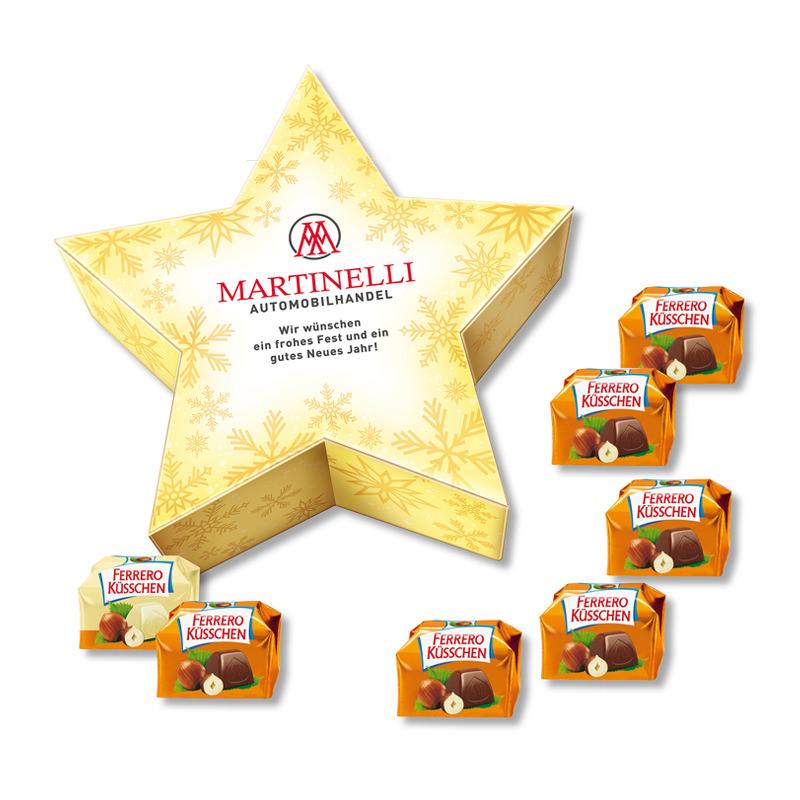 Ferrero Küsschen Stern-Geschenkbox mit Werbedruck