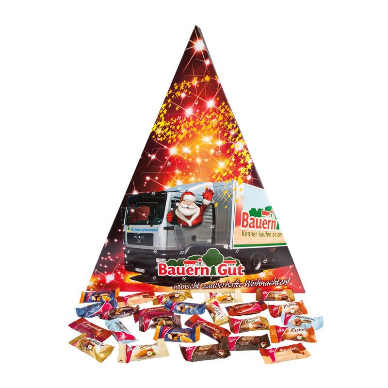 Großer Dreieck-Adventskalender individuell bedruckbar