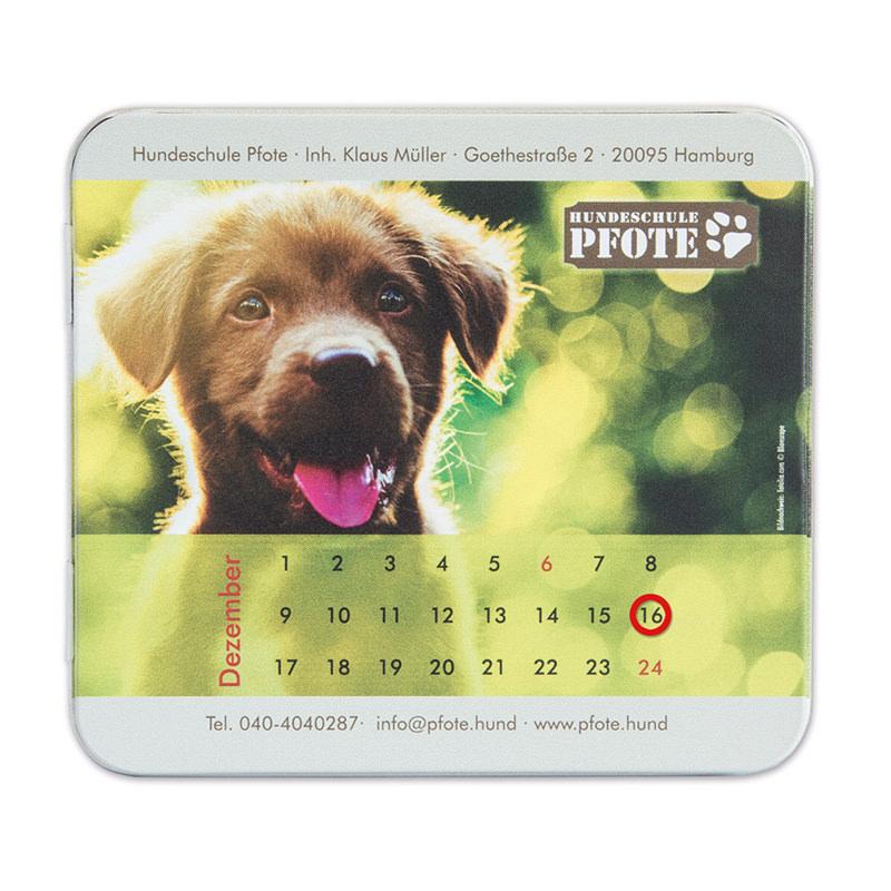 Hunde Leckerli Adventskalenderdose