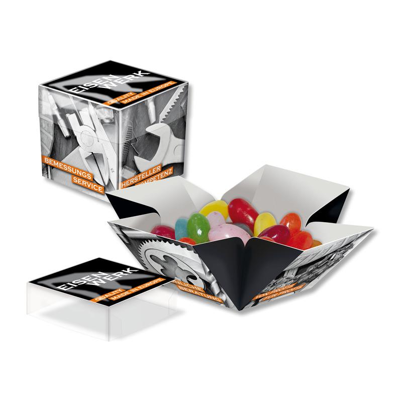 Jelly Beans Mini Überraschungs-Werbebox mit Logodruck
