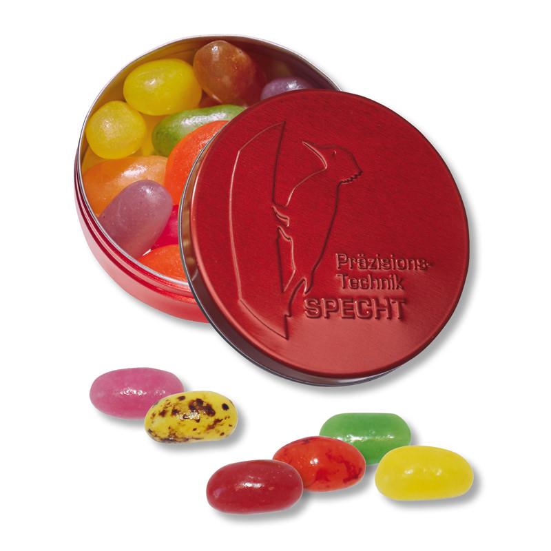 Jelly Beans XS-Taschendose mit Logoprägung