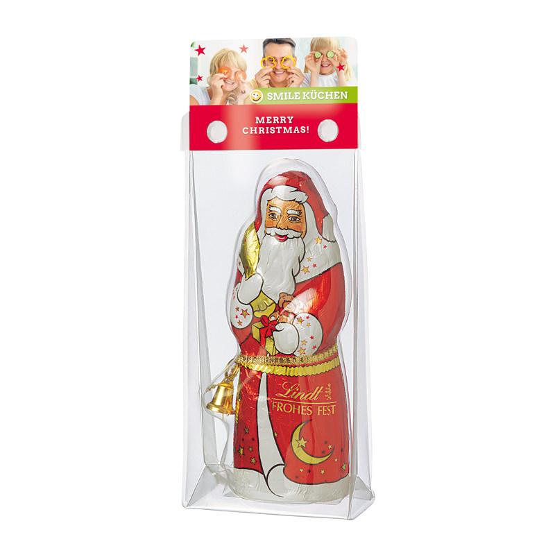 Lindt Weihnachtsmann mit Werbereiter
