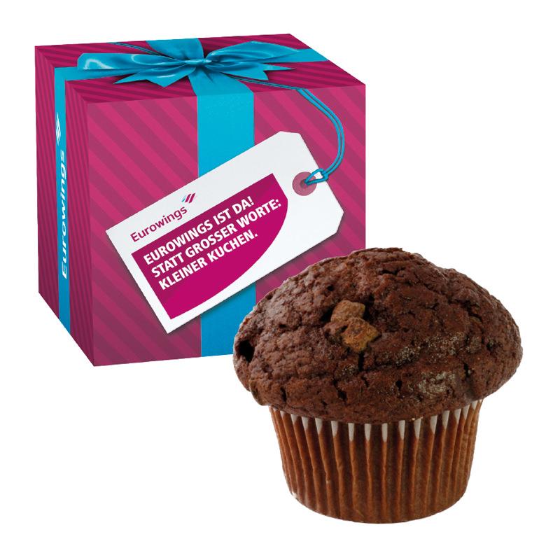 Muffin Maxi in der Werbe-Box mit Logodruck
