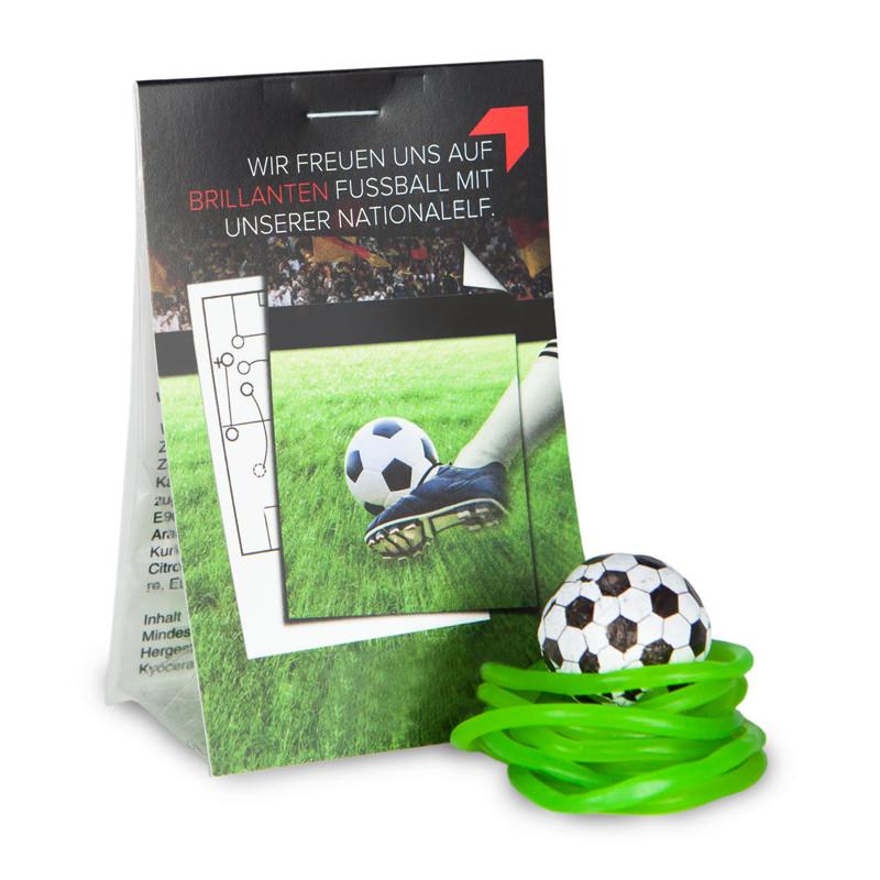 Naschtasche Fußballrasen mit Werbereiter
