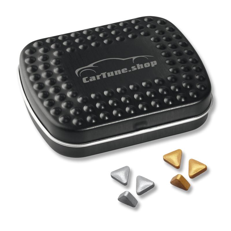 Pfefferminz-Nuggets Techno-Dose mit Prägung und Logodruck
