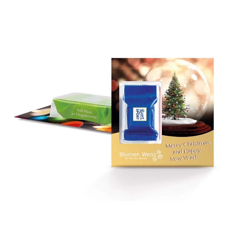 Ritter SPORT Premium-Card mit Logodruck