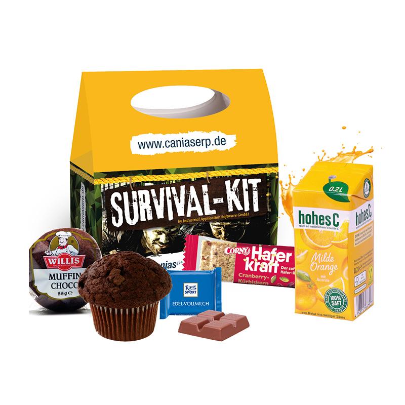 Snack-Pack Kleine Pause mit Tragegriff und Werbedruck