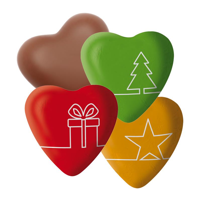 Standard Schokoladenherz Weihnachten