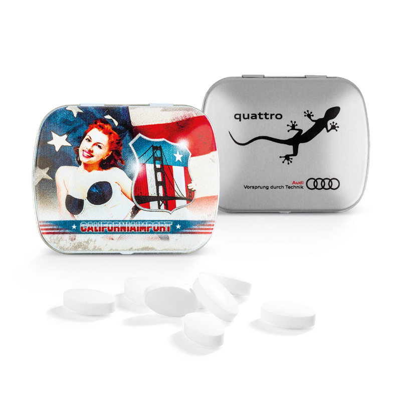 Starmint Box Werbedruck mit Pfefferminz