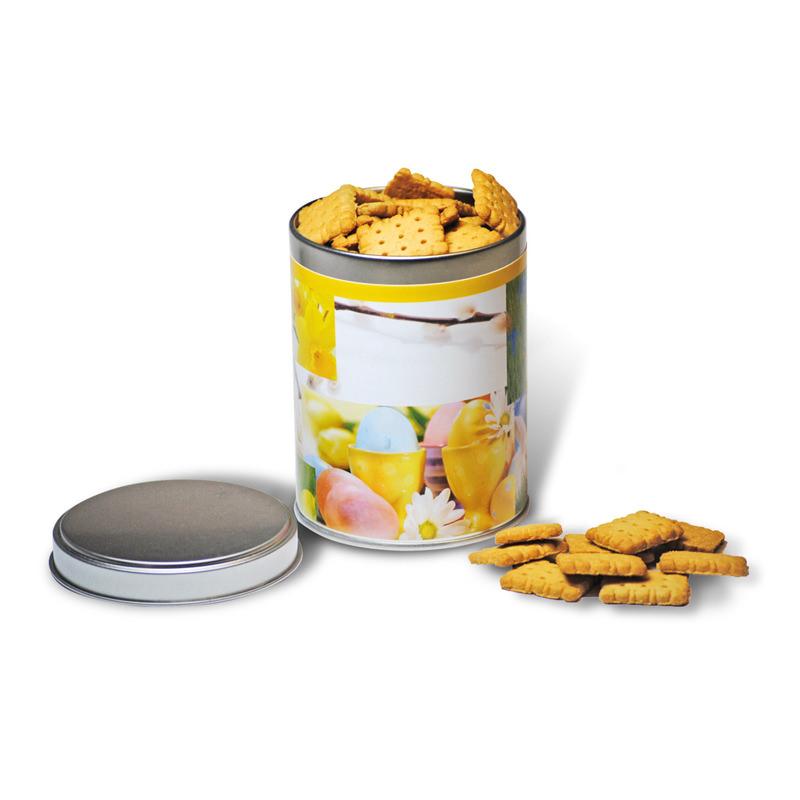 Süße Osterdose mit Butterkeksen und Werbedruck