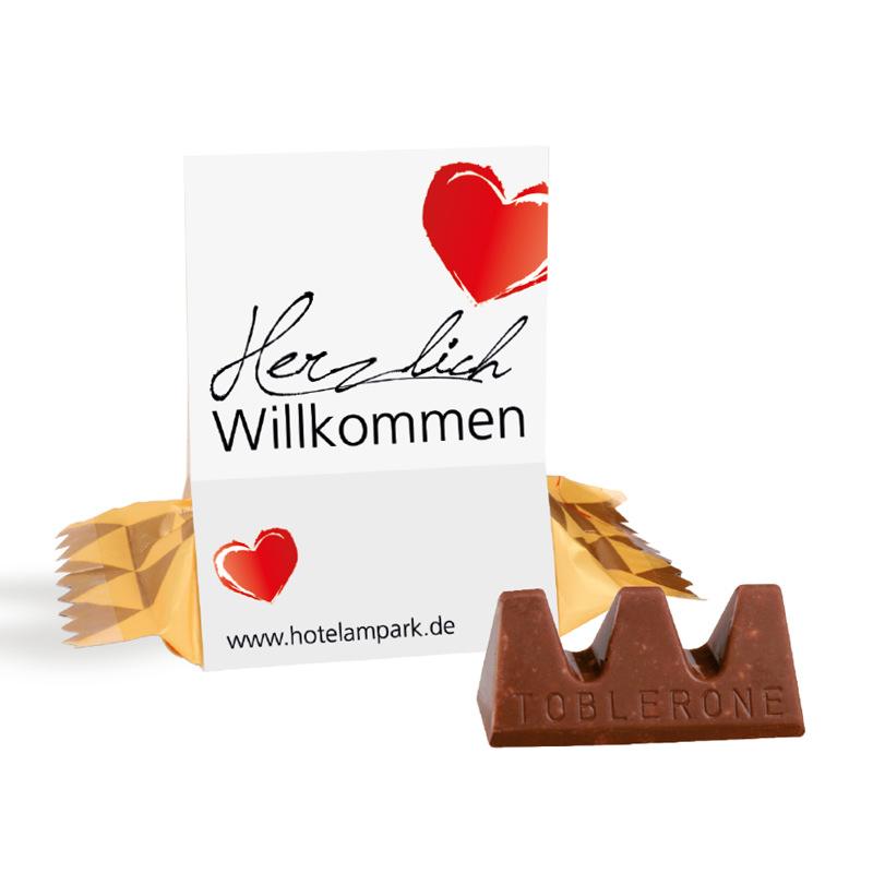 Toblerone Mini im Werbeaufsteller und Logodruck