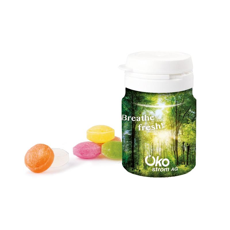 Top Can Mini-Bonbons mit Werbedruck