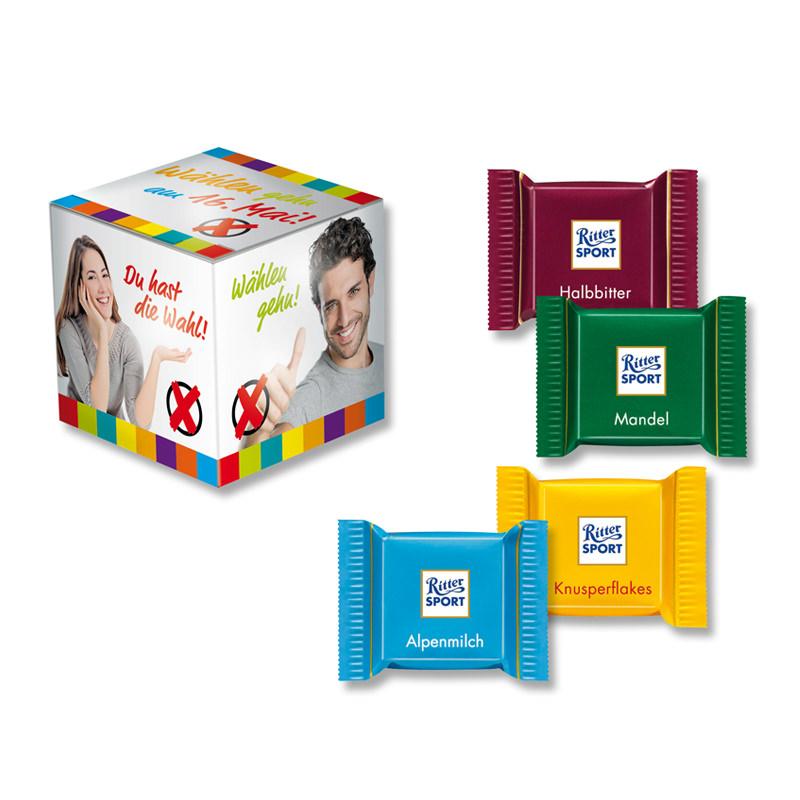 Werbe Mini Promo Würfel Quadretties  mit Logodruck