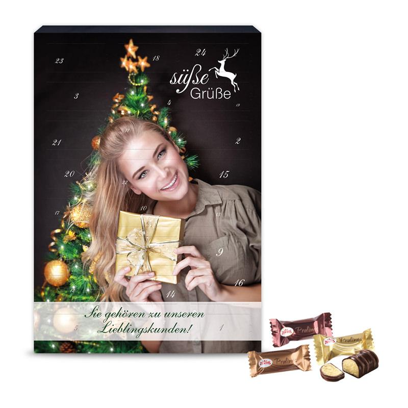 Zentis Marzipan Adventskalender mit Werbedruck
