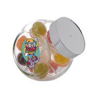 0,4 Liter Schräghalsglas befüllt mit Lollies und mit Werbeetikett Bild 2