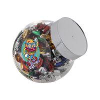 0,4 Liter Schräghalsglas befüllt mit Metallic Sweets und mit Werbeetikett Bild 2