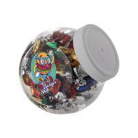 0,4 Liter Schräghalsglas befüllt mit Metallic Sweets und mit Werbeetikett Bild 1