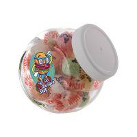 0,4 Liter Schräghalsglas befüllt mit Napoleon Bonbons und mit Werbeetikett Bild 2