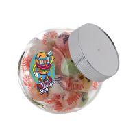 0,4 Liter Schräghalsglas befüllt mit Napoleon Bonbons und mit Werbeetikett Bild 1