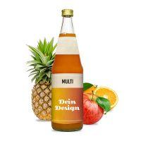0,7l Multivitaminsaft in Glasflasche mit Werbeetikett Bild 1