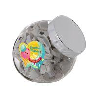 0,9 Liter Schräghalsglas befüllt mit Höllandischen Hopjes und mit Werbeetikett Bild 1