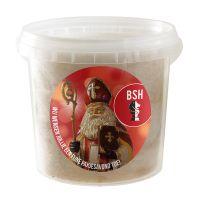 1 l Lebkuchen-Zuckerwatte im transparenten Eimer mit Werbe-Etikett Bild 1