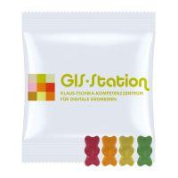 10 g Bio Gummibärchen ohne Gelantine im Werbetütchen mit Logodruck Bild 1