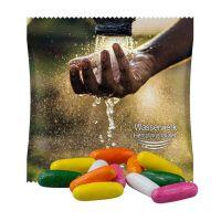 10 g Dragierte Lakritzstäbchen im Werbetütchen mit Werbedruck Bild 1