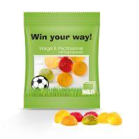 10 g Fruchtgummi Fußbälle im Werbetütchen Bild 1