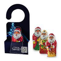 10 g Weihnachtsmann in Werbekartonage mit Aufhänger Bild 1