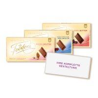 100 g FEODORA Schokoladentafel im Volleinschlag mit Werbedruck Bild 1