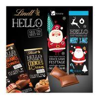 100 g Lindt HELLO Schokoladentafel in Werbekartonage Bild 3