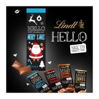 100 g Lindt HELLO Schokoladentafel in Werbekartonage Bild 4