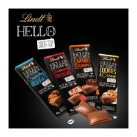 100 g Lindt HELLO Schokoladentafel in Werbekartonage Bild 5