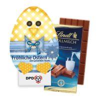 100 g Lindt Schokoladentafel in Osterei-Kontur-Werbekartonage Bild 2