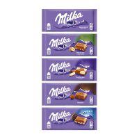 100 g Milka Schokoladentafel in einer Werbekartonage mit Logodruck Bild 4