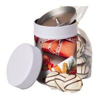 100 g Schoko-Pfeffernuss in Keksdose mit Werbeetikett Bild 1