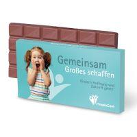 100 g Tafel Schutzengel Schokolade in Versandkartonage mit Werbedruck Bild 2